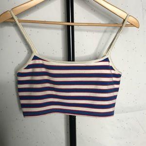 TopShop Red White & Blue Stripped Crop/Bralette